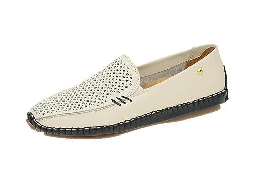 Pikolinos 578-3593 Nata - Mocasines de Piel para mujer, color Blanco, talla 36: Amazon.es: Zapatos y complementos