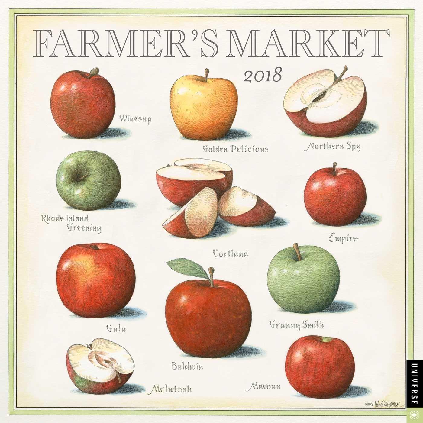 Farmer's Market 2018 Wall Calendar: John Burgoyne: 0676728033288: Amazon.com:  Books