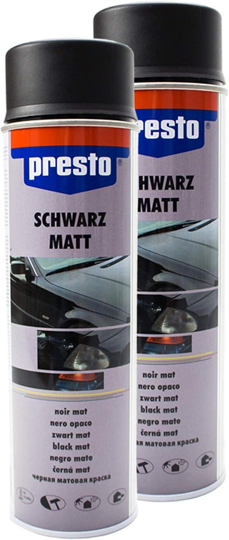 Presto 2x Rallye Spray Kontrast Teillackierung Karosserie Felgen Schwarz Matt 40 Auto