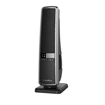 Lasko Quite Oscillating Ceramic Tower Heater Fan With Adjustable Thermostat,  Remote Control And FREE Air