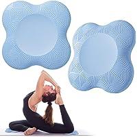Bigmeda 2 st yoga knäskydd, halkfria yogamattor för kvinnor knästöd för yoga bekväm och lätt yoga knäskydd kudde för…