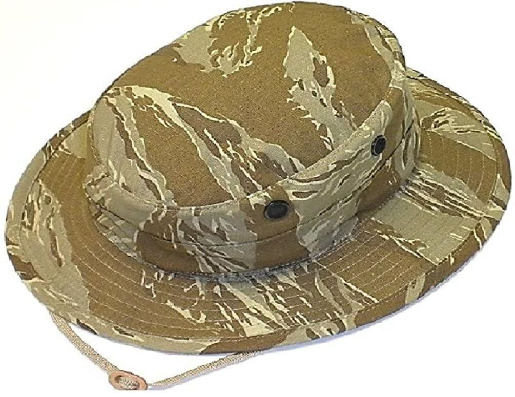 Amazon.com  Special Forces Tactical Desert Tiger Stripe Camo Boonie Busch  Hat  Clothing 5d853f51e08