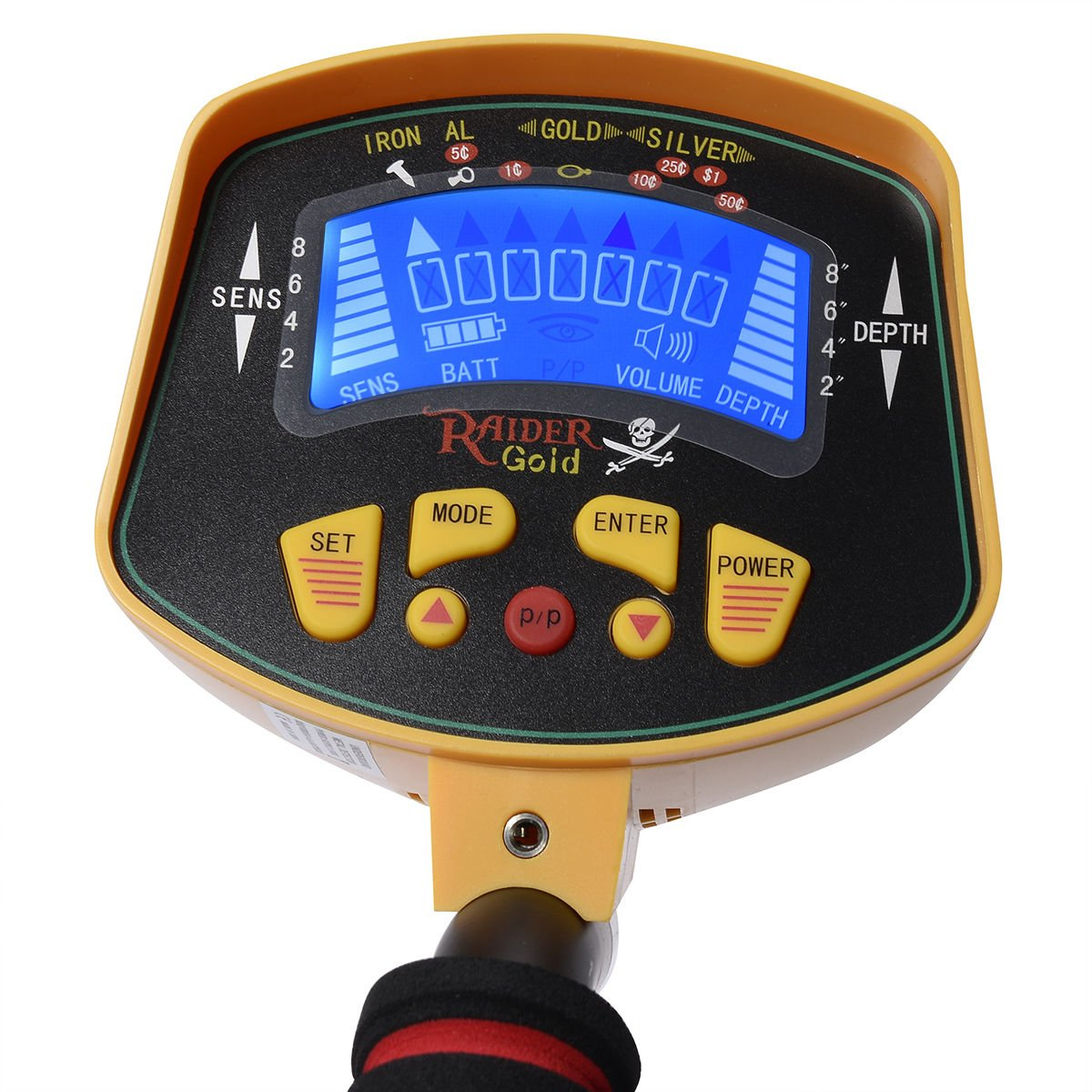 COLIBROX--New MD-3010II Metal Detector Gold Digger Deep Sensitive Light Hunter LCD Display Material: ABS Dimension: 21.26x13.58x5.9inches/540x345x150mm Diameter Of The Detector Plate:8'' Power: 6 X 1.5 by COLIBROX