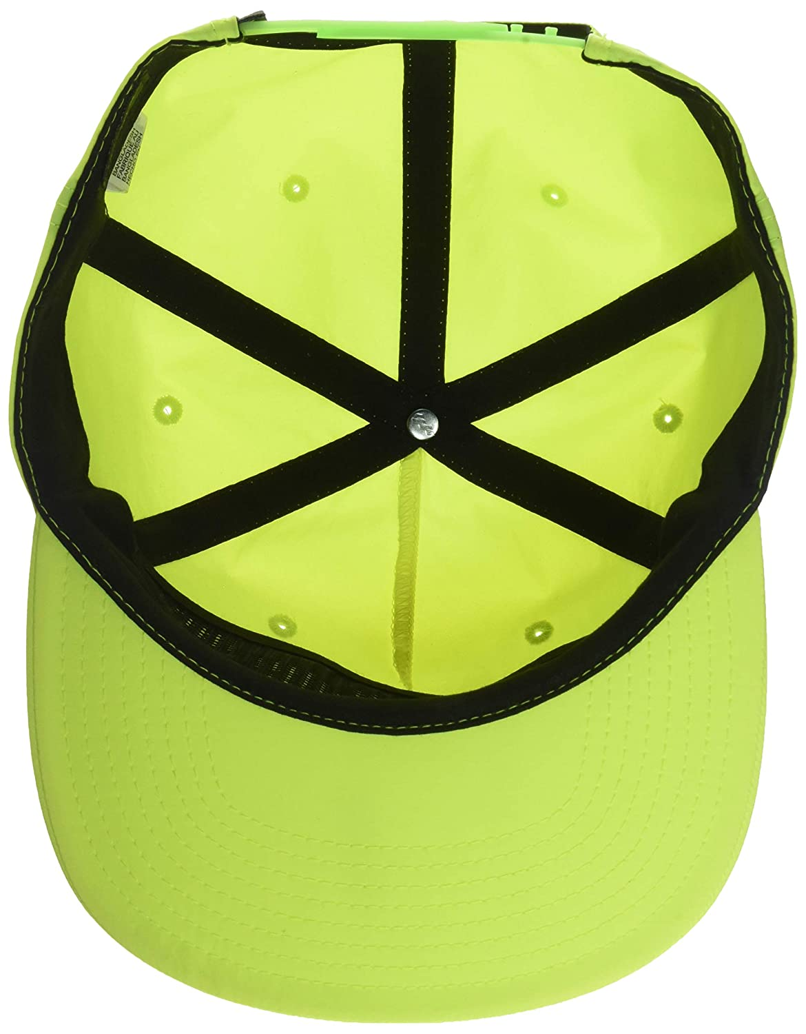 4e11586ef9cca2 Amazon.com: RVCA Men's Graphic Pack HAT, Acid Yellow, ONE Size: Clothing
