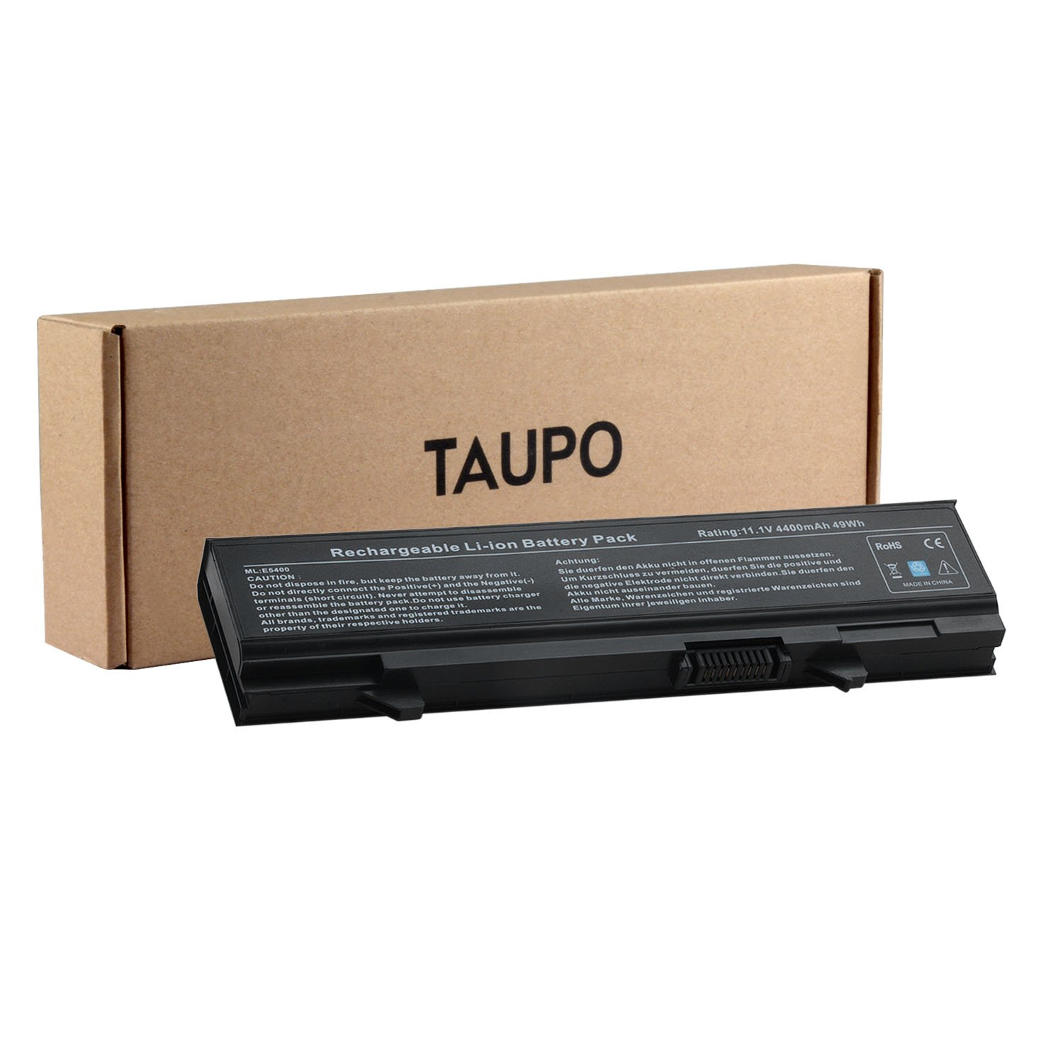 TAUPO New Laptop Battery Replacement for Dell Latitude E5500 E5510 E5400 E5410 Series, fits P/N KM742 WU841 RM661 T749D - 12 Months Warranty DL6E5400Z001