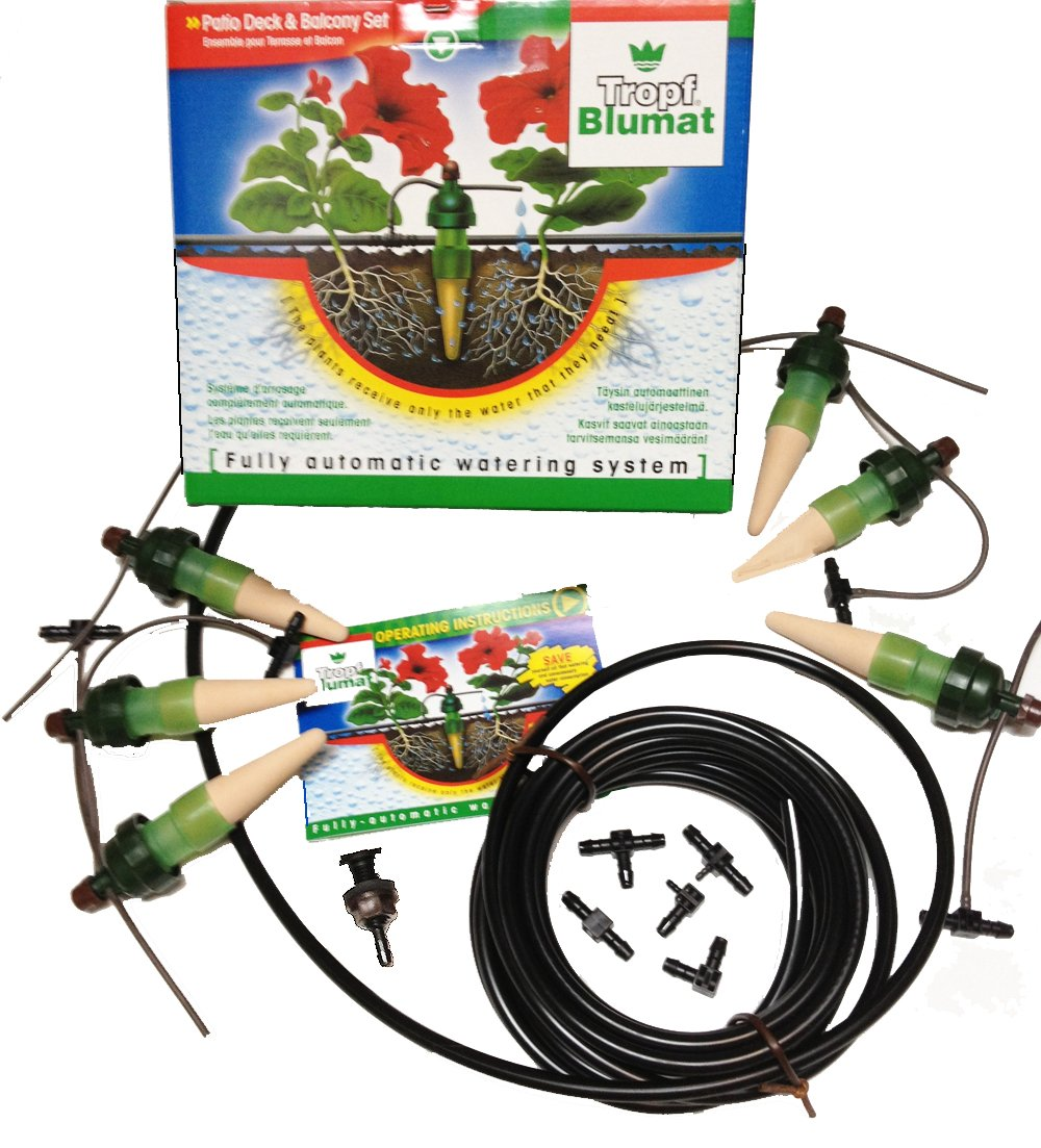 Blumat Automatic Watering Sensors - 5 Plant Starter Drip System - Made in Austria - Great for all Plants IG15740