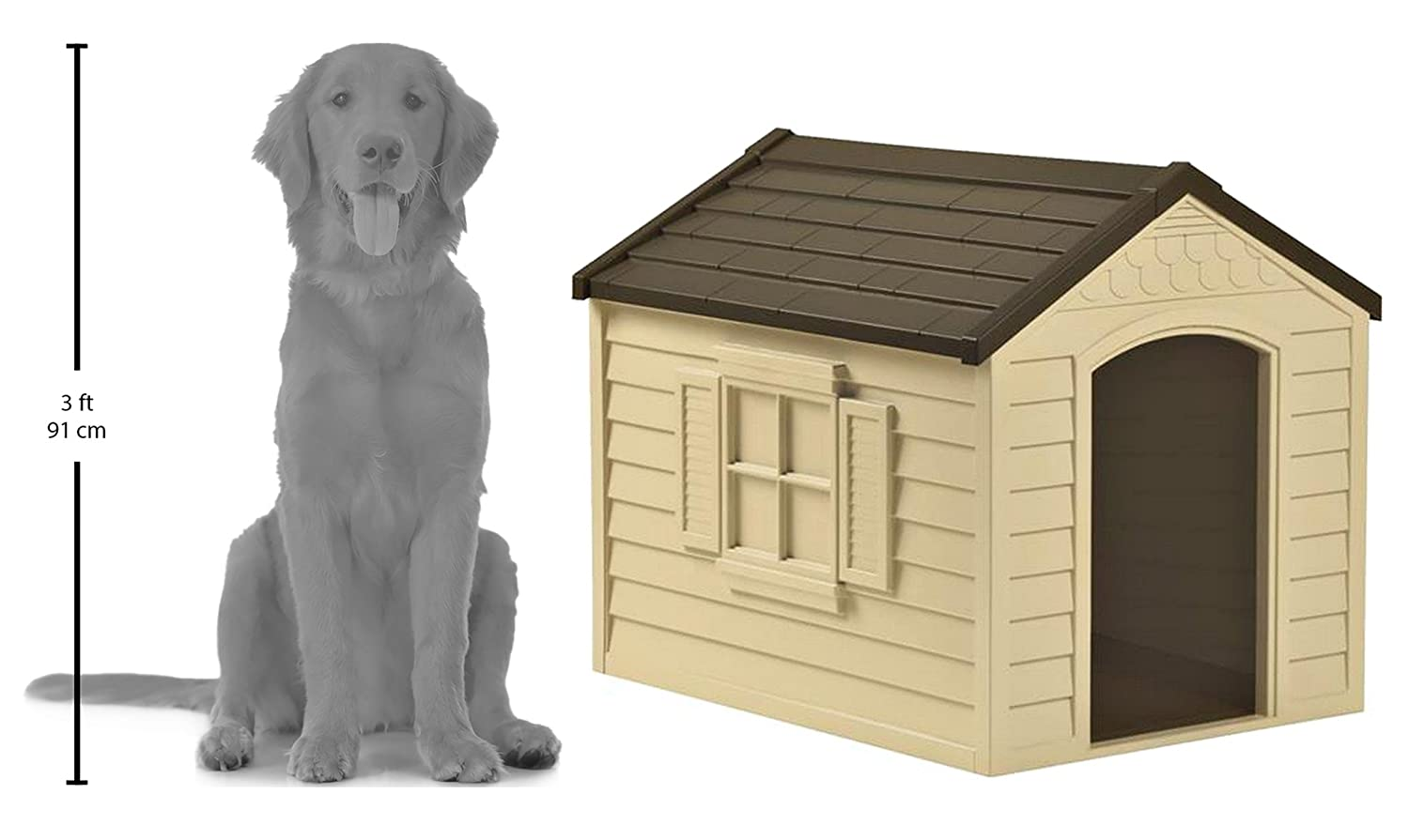 amazon com suncast dh250 dog house pet supplies