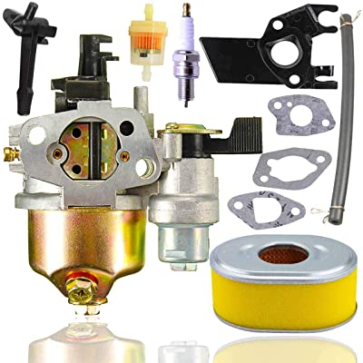 Fyange GX120 Carburetor+ Air Filter+Spark Plug+Insulator for Honda GX120 GX160 GX168 GX200 5.5hp 6.5hp Small Engine: Garden & Outdoor