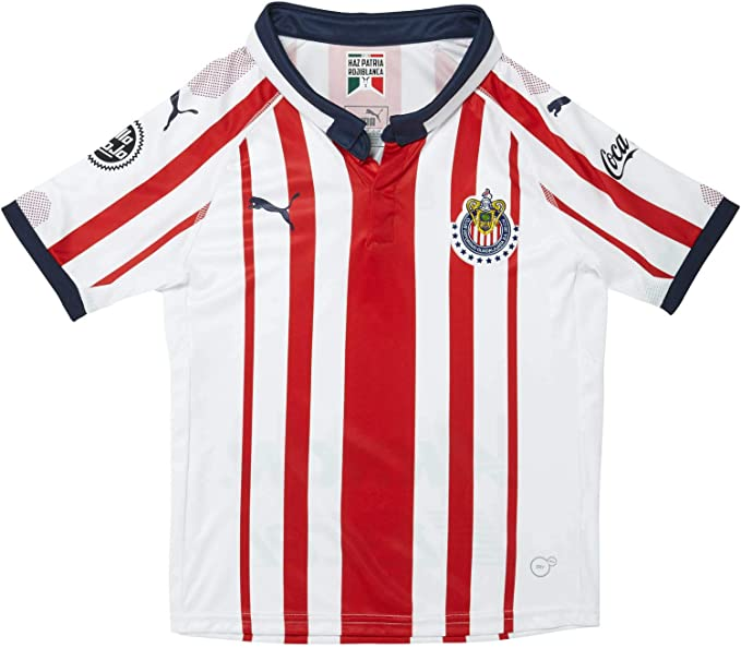 Puma Chivas YOUTH Home Jersey 17/18 Soccer Clothing, Shoes & Accessories soccer  clothes Team Sports soccer clothes