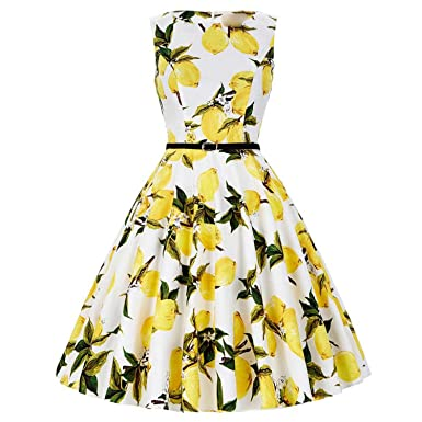 Floral Retro Vintage 50s Dress Vestidos Rockabilly Party ES Robe Femininos,31,S