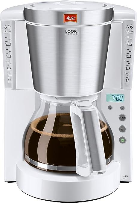 Melitta Look Timer Cafetera de Filtro, 1000 W, 1.25 litros, Acero Inoxidable, Blanco: Amazon.es: Hogar
