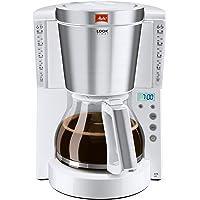 Melitta Look Selection filtre kahve makinesi, cam sürahili, patentli AromaSelector 10 bardak Beyaz 209828