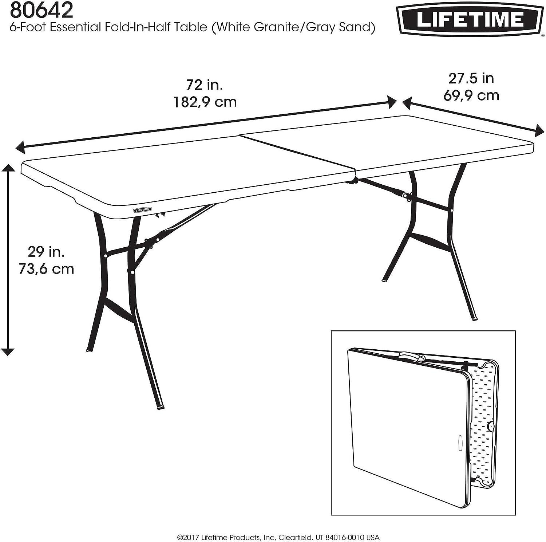 Lifetime plastique 183 x 70 x 74 cm table de camping Premium ...