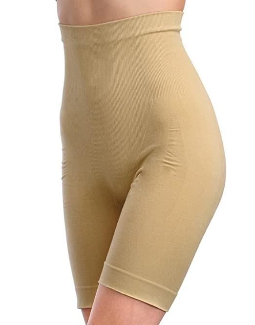 50e550dcf7 RAPID Women s Thigh and Tummy Control Bodyshaper Undergarment (Beige)   Amazon.in  Clothing   Accessories