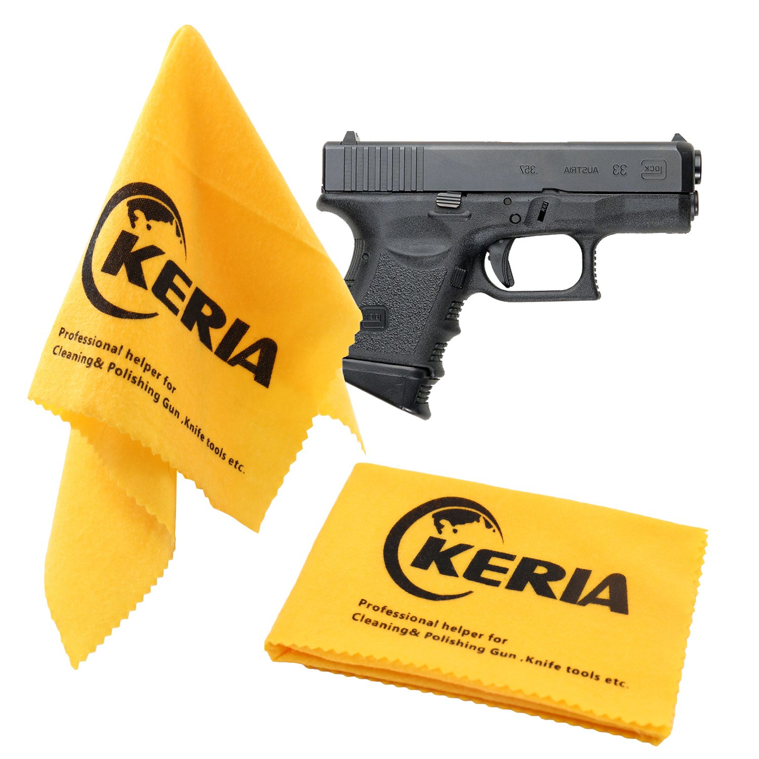 Keria 100% Cotton 2 Pack Gun Care Silicone Cleaning Cloth Size 12''x12'',Firearm Accessories Cleaning Products by Keria