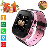 Smartwatch GPS Tracking for kids, with Touch Screen Phone Call Anti-lost Remote Wristband Bracelet for Children (USA Edition)