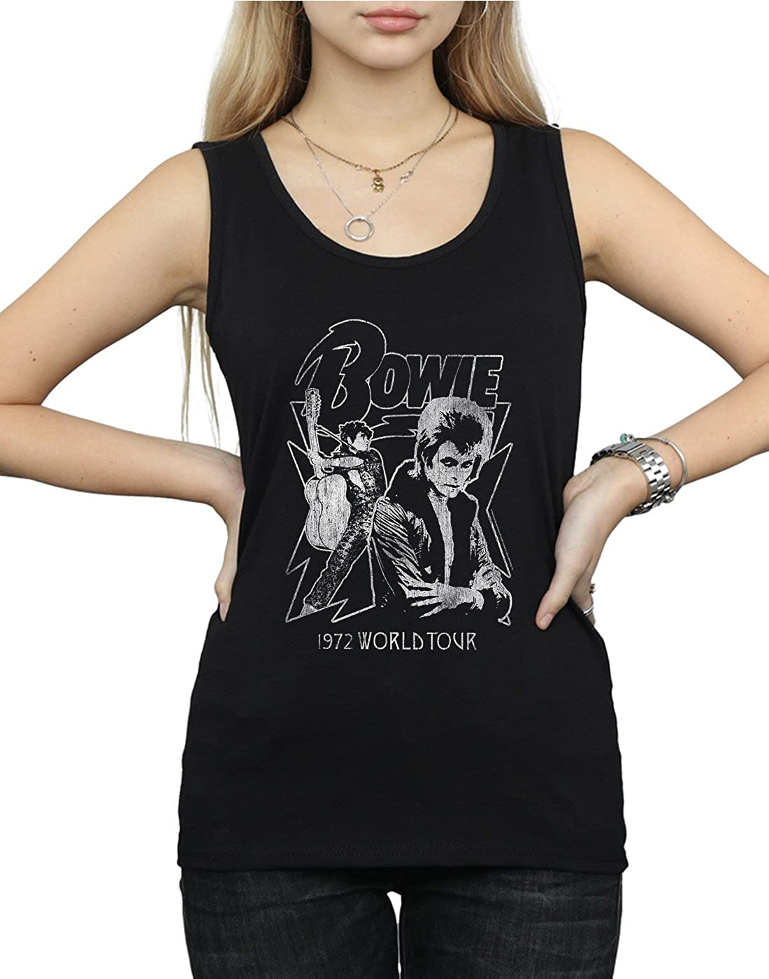 David Bowie Womens Mono 1972 World Tour Tank Top