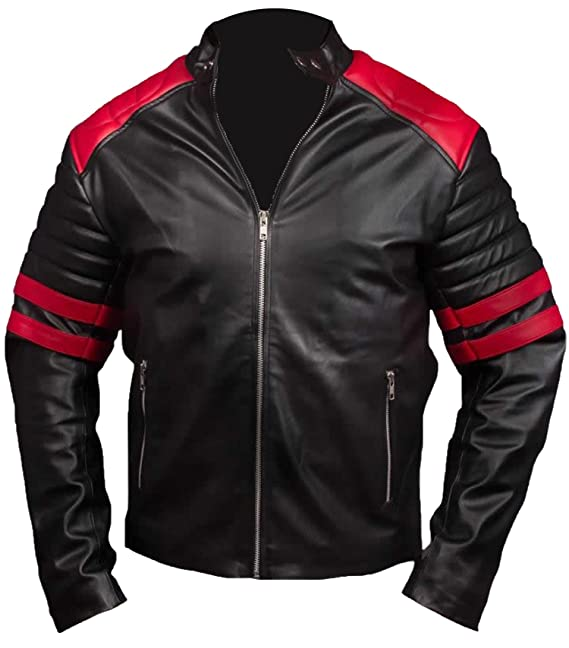 Hybrid Chaqueta Club De Fight Cuero Hombre Leatherly Mayhem XxwvZv
