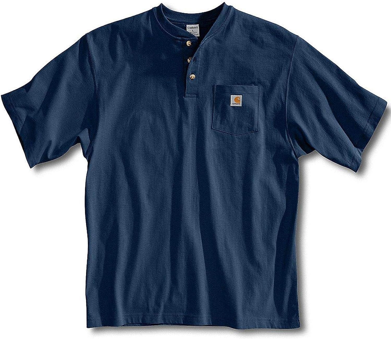 Carhartt Mens Big /& Tall Workwear Pocket Short Sleeve Henley Original Fit K84,Navy,XXX-Large