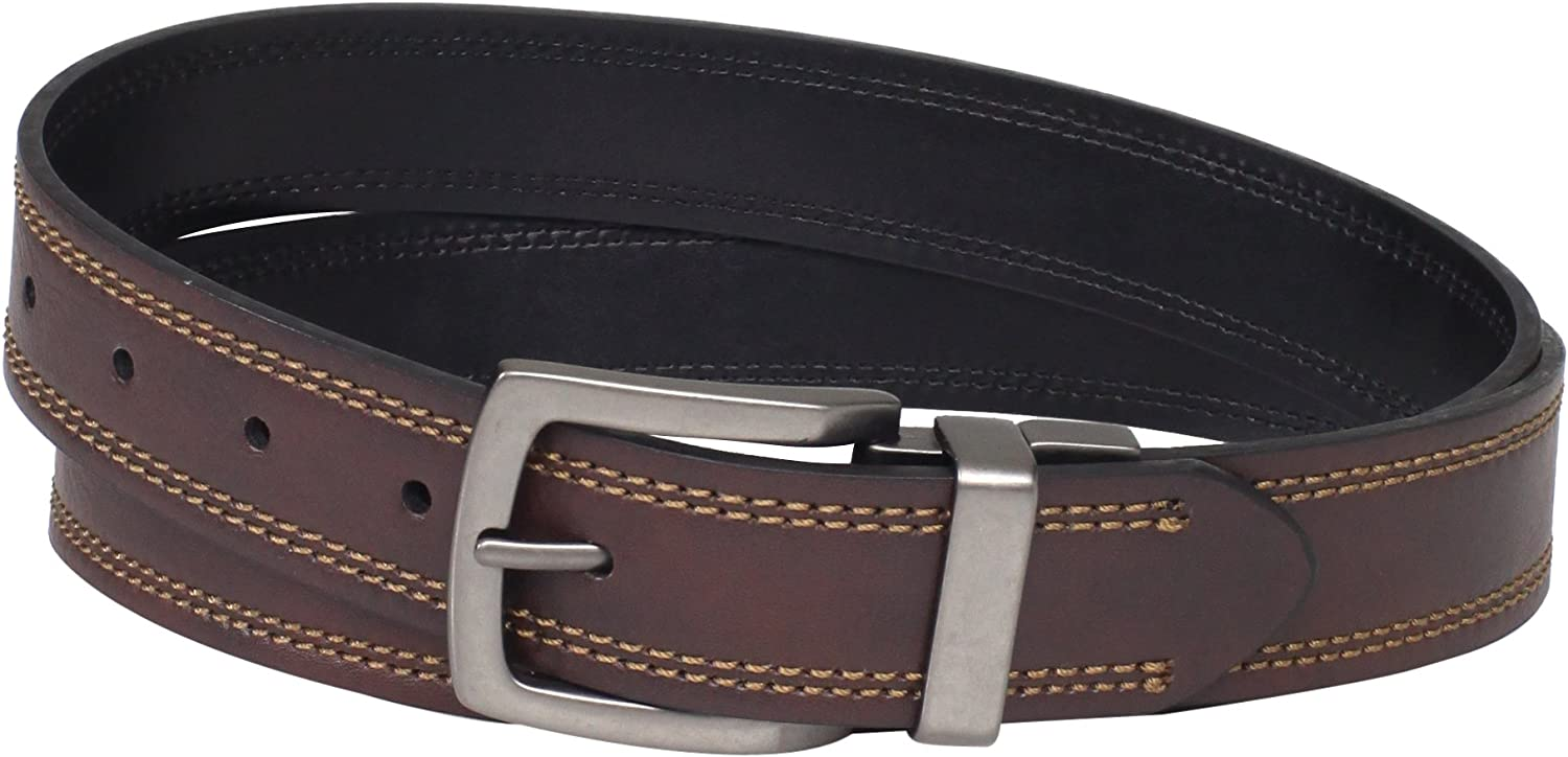 Dickies Mens 1 3//8 in Reversible Bridle Belt With Plaque