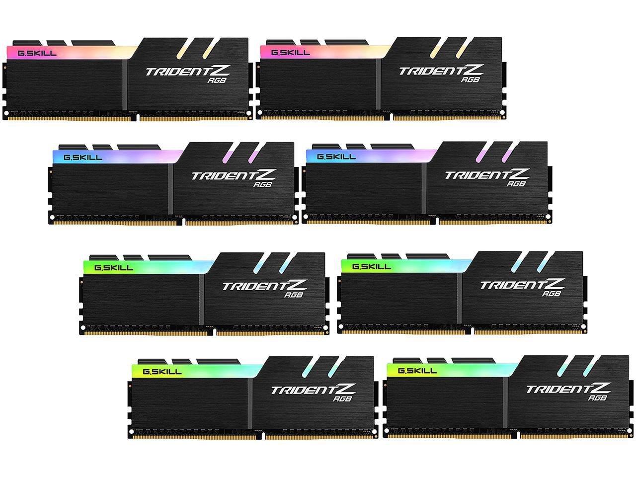 G.SKILL TridentZ RGB Series 128GB (8 x 16GB) 288-Pin DDR4 3333MHz DIMM F4-3333C16Q2-128GTZR by G.Skill (Image #1)
