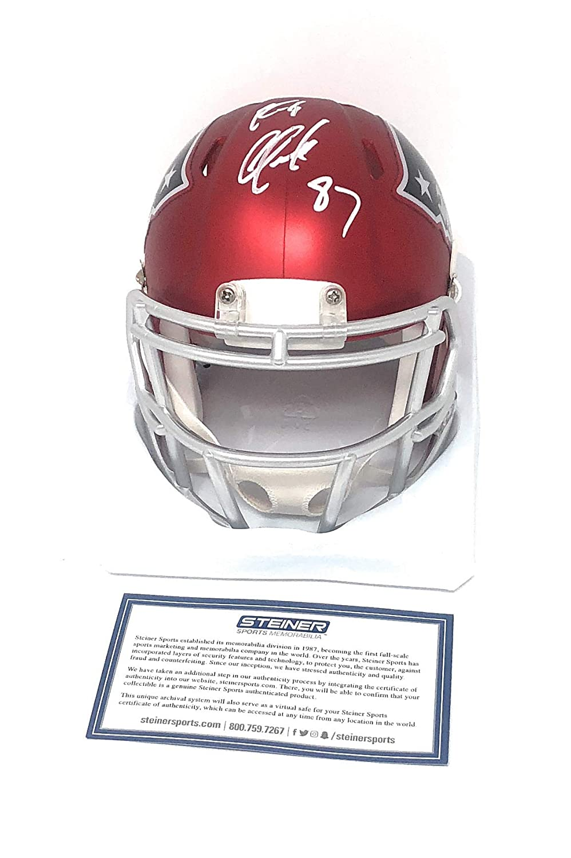 Rob Gronkowski New England Patriots Signed Autograph Blaze Speed Mini Helmet JSA Witnessed Certified