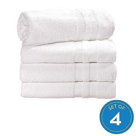 iDesign SPA Juego de 4 baño, algodón Grandes con Cenefa ...