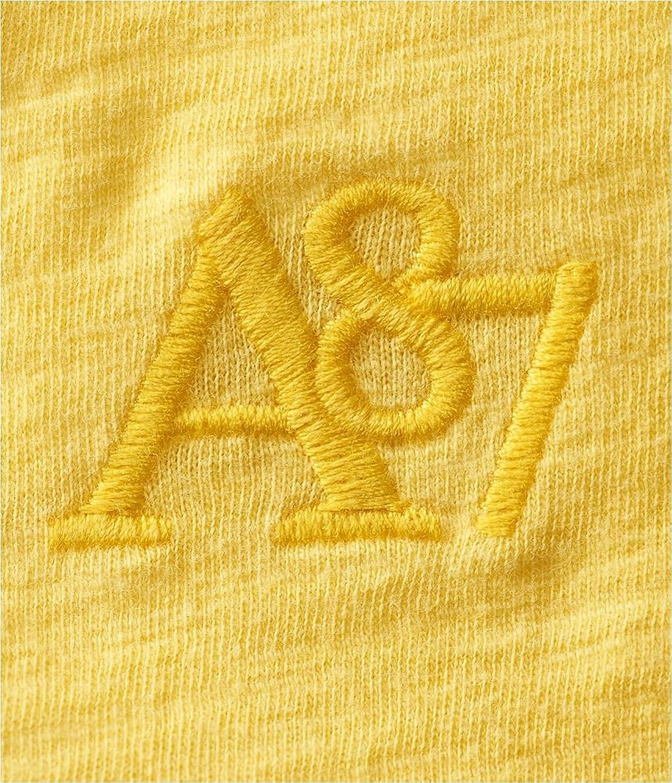 Aeropostale Mens Embroidered A87 V-Neck Embellished T-Shirt