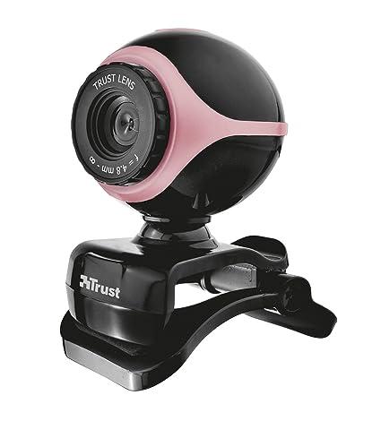 Trust Exis 300K - Webcam con micrófono Negro/Rosa: Amazon.es ...