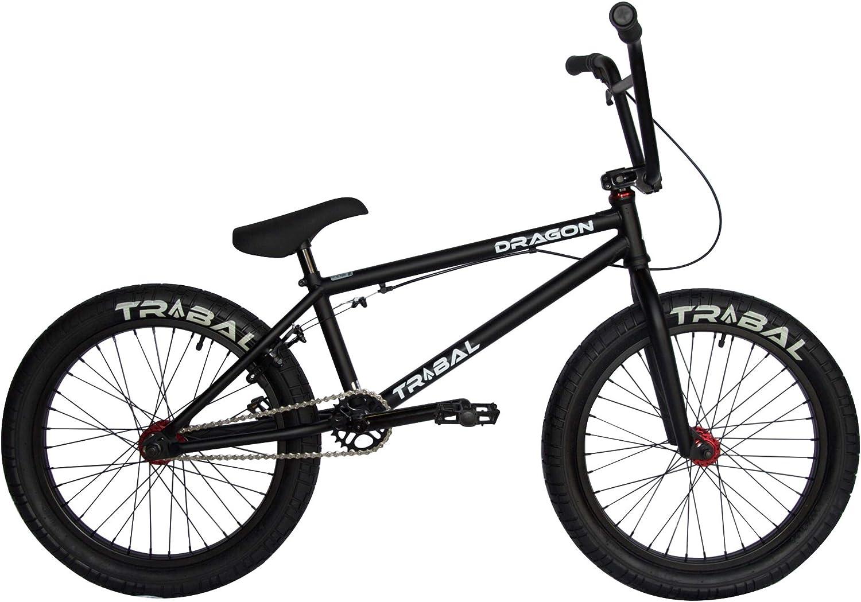 Tribal Dragon Bicicleta BMX – Piezas de Color Negro Mate y Rojo: Amazon.es: Deportes y aire libre