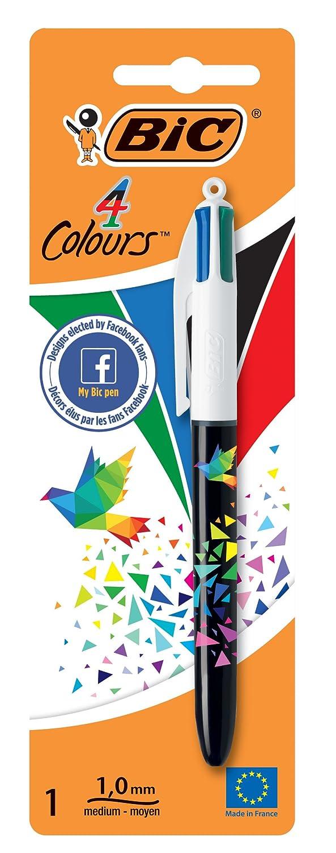 BIC 4-Farb-Druckkugelschreiber 4 Colours Dekor Blister /à 1 St/ück 0,32 mm