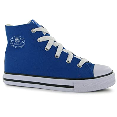 ba7f29df219e8 Dunlop Kids Boys Canvas High Top Sneakers Trainers Casual Shoes - Blue - 6