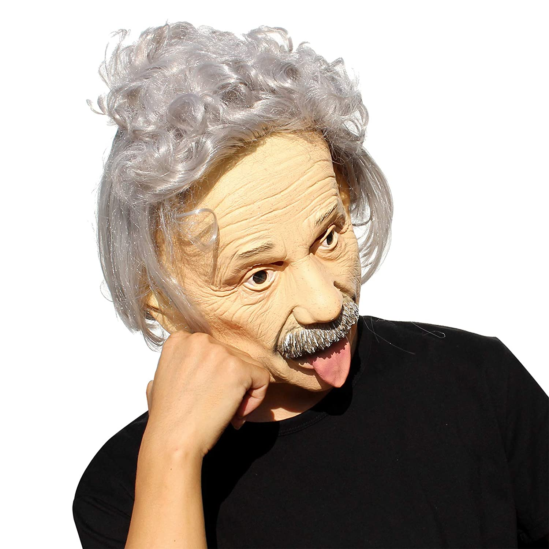Albert Einstein Famous Celebrity Mask Funny