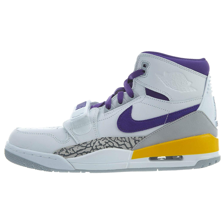 White, field purple, yellow Nike Jordan Legacy 312 Lakers Mens