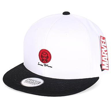 d037aecd1fc Marvel Iron Man Logo Avengers Character Simple Snapback Hat Cotton Baseball  Cap
