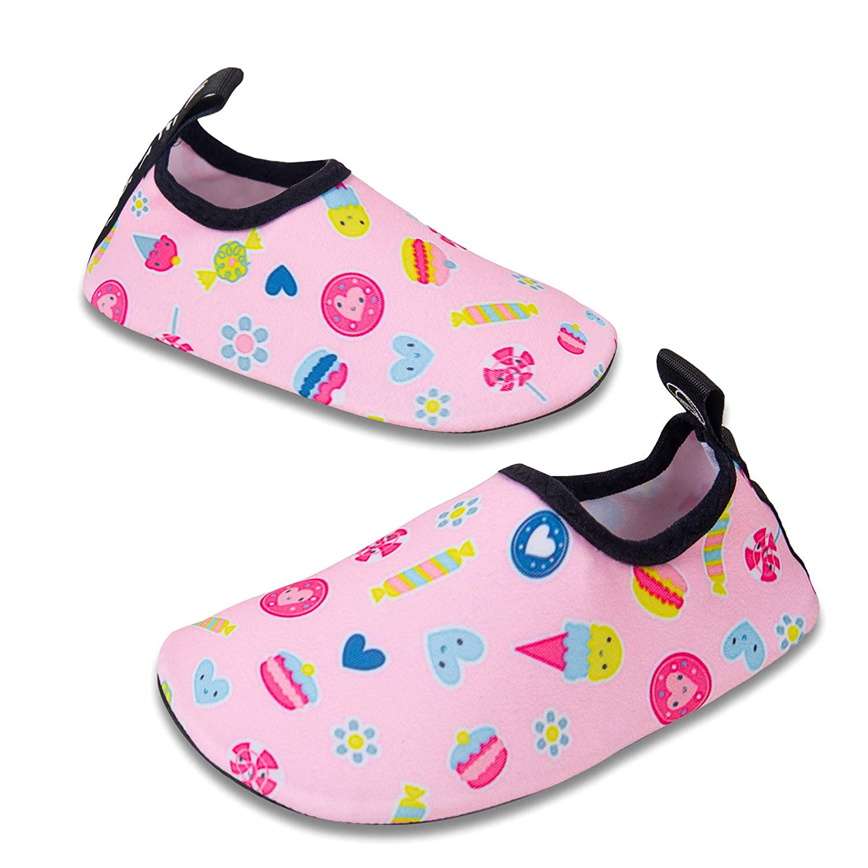 Mabove Kids Swim Water Shoes Non-Slip Quick Dry Barefoot Aqua Pool Socks Shoes for Boys /& Girls Toddler