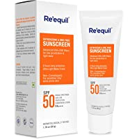 RE' EQUIL Oxybenzone and OMC Free Sunscreen For Oily, Sensitive & Acne Prone Skin, SPF 50 PA+++ - 50g