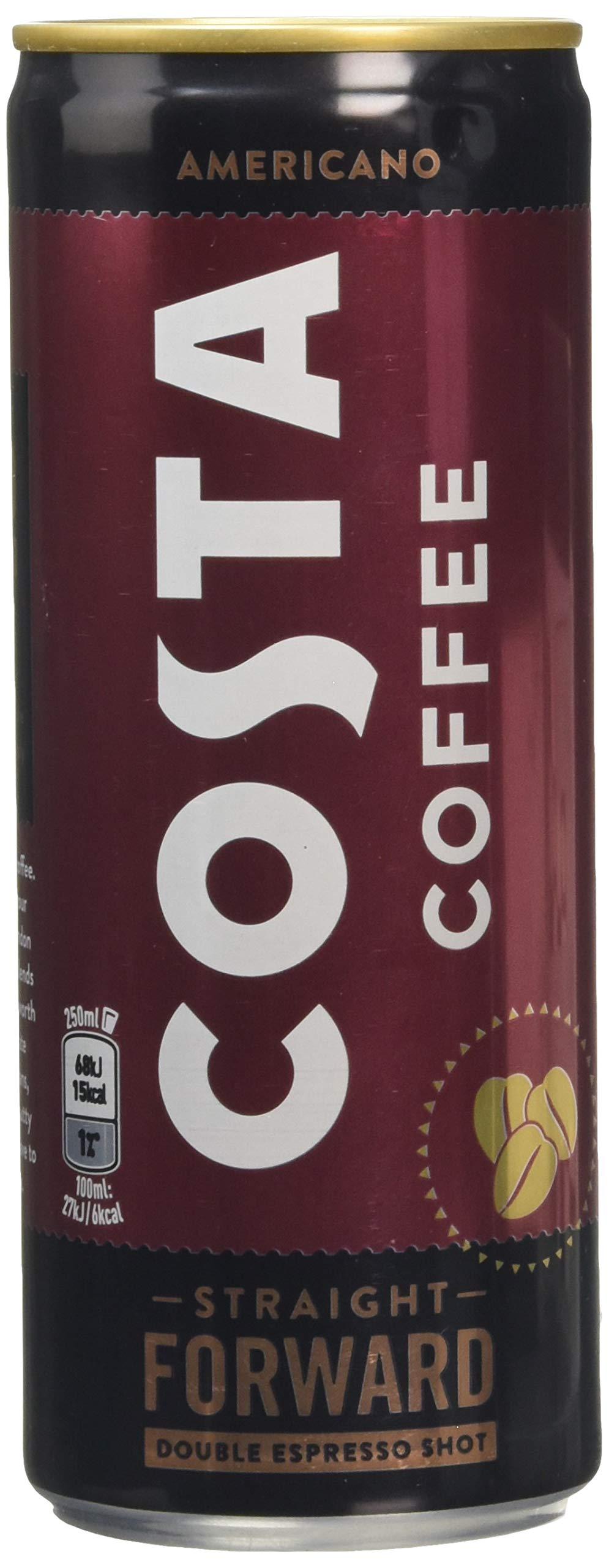 Costa Coffee, 250 ml, Americano, 12-Count COS001