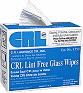 CRL Lint Free Glass Wipes in Pop Up Dispenser Box by CR Laurence