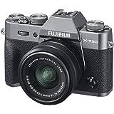 Fujifilm X-T30 Mirrorless Digital Camera w/XC15-45mm F/3.5-5.6 OIS PZ Lens, Charcoal Silver