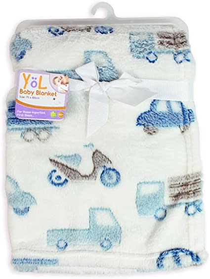 Pram cot crib moses basket First Steps Soft Embroidered Fleece baby Blanket 0m