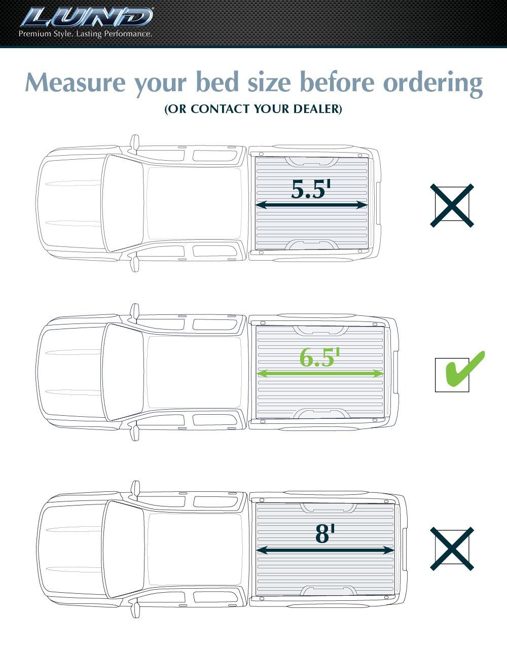 Lund 95064 Genesis Tri Fold Tonneau Cover Automotive 2003 Dodge Mins Fuel Filter Diagram