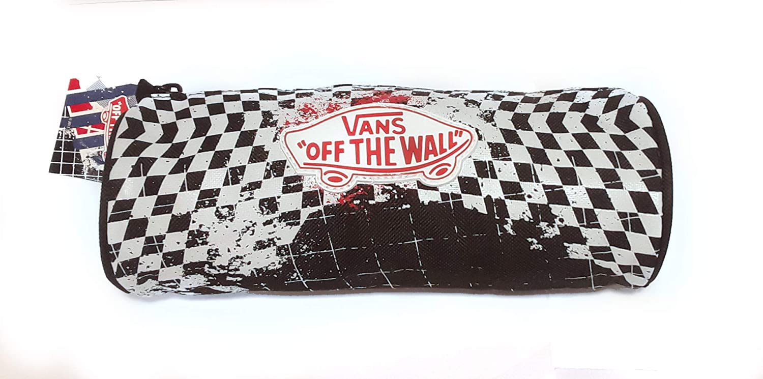 Vans off the Wall Checkered Pencil Case - Estuche para lápices, diseño de Cuadros Negros: Amazon.es: Oficina y papelería