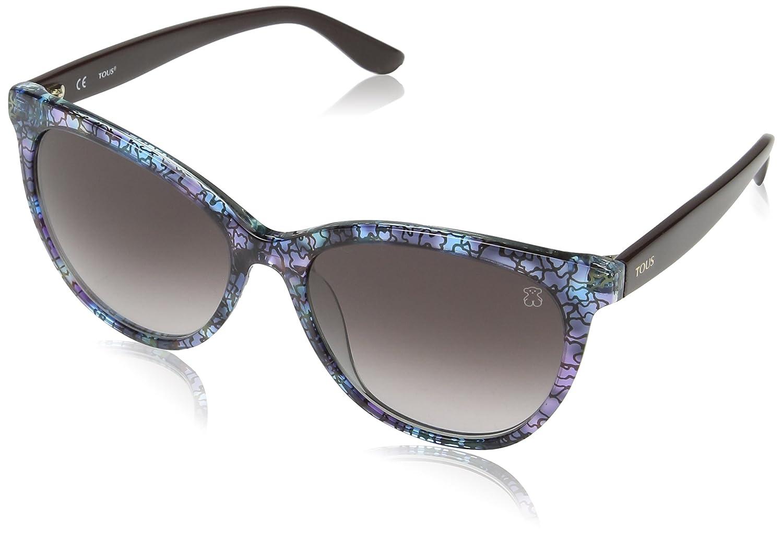Tous Mujer STOA03 Gafas de sol, Multicolor (Transp/Light Blue Havana)