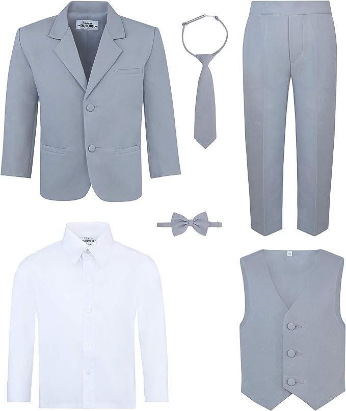 Amazon.com: Conjunto de traje de 6 piezas para niño: incluye ...