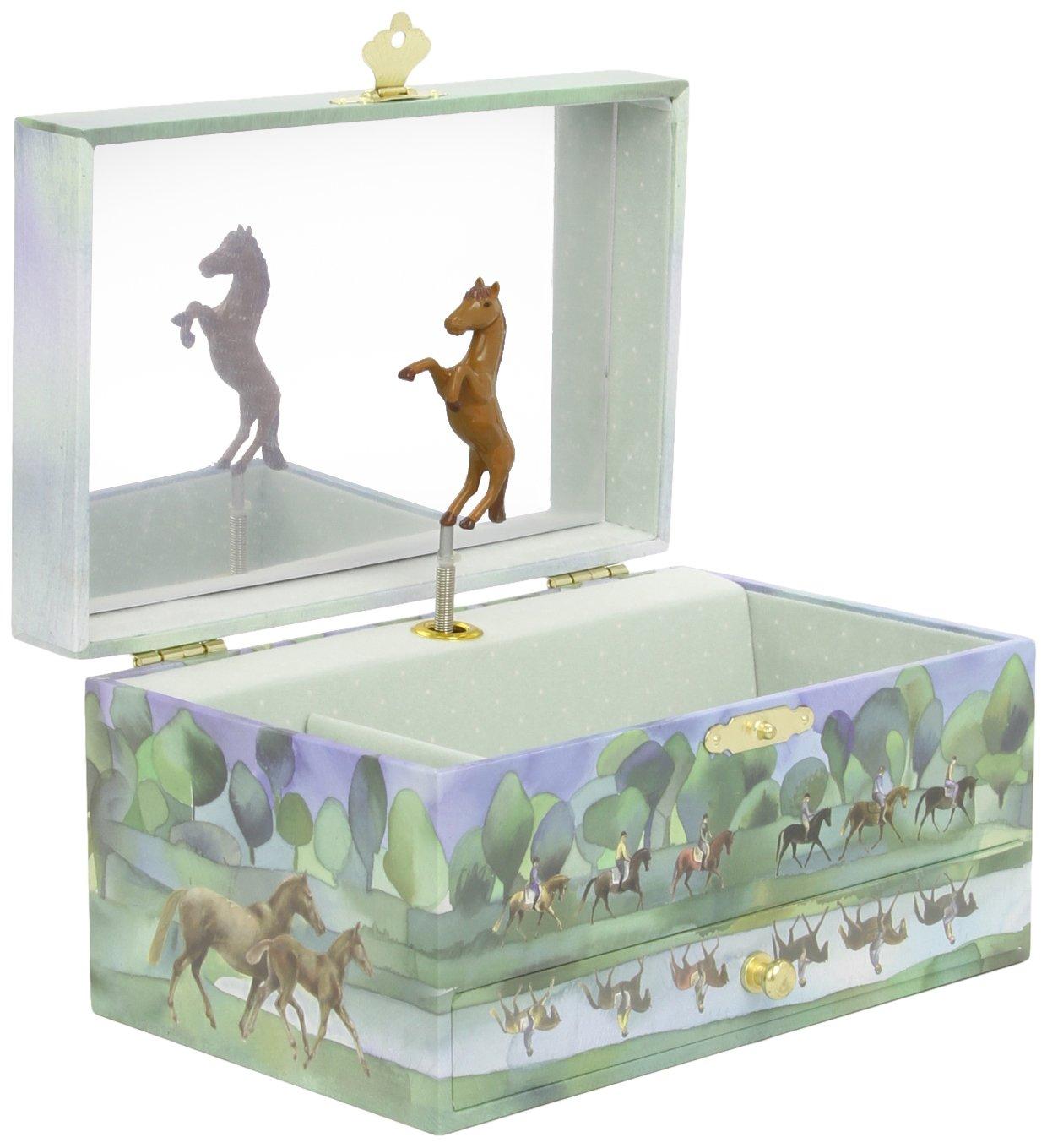 Trousselier 60620 Pferde-Spieluhr Brown Horses Spieldose, Musikdose, Spieluhren, Spieluhr mit Pferd