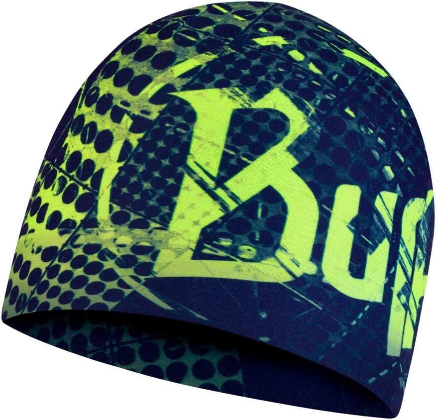 Talla /única Original Buff Microfiber Reversible Hat Havoc Blue Gorro Unisex Adulto