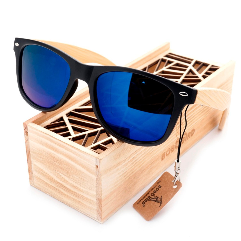 c111f3468db Amazon.com  JapanX Bamboo Sunglasses   Wood Wooden Sunglasses for Men Women