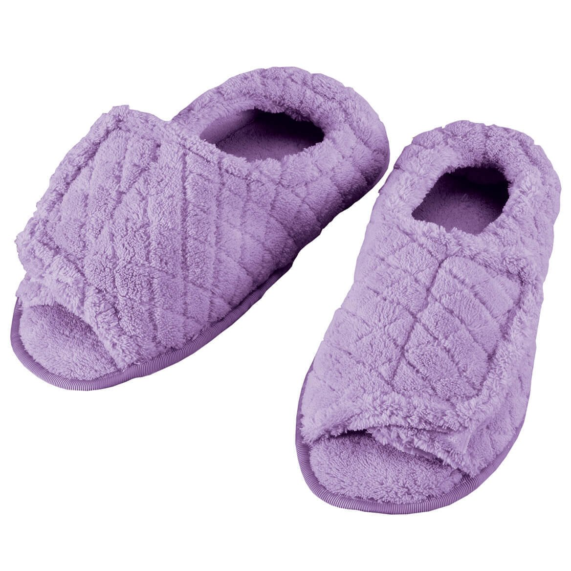 EasyComforts Quilted Chenille Adjustable Toe Slippers