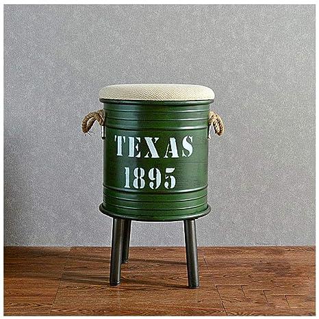 Superb Amazon Com Jfya American Retro Bar Chair Oil Barrel Stool Ncnpc Chair Design For Home Ncnpcorg